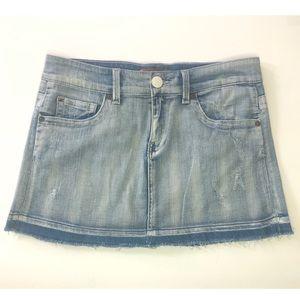 Seven7 Mini Skirt Raw Hem. Size 27
